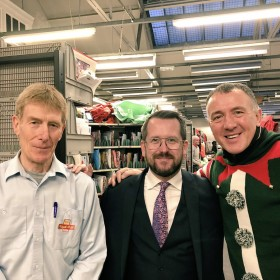 Stewart McDonald thanks local posties as they gear up for First Class Christmas